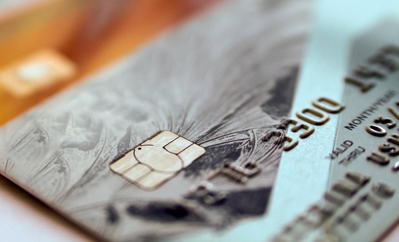 クレジットカードのアップ写真